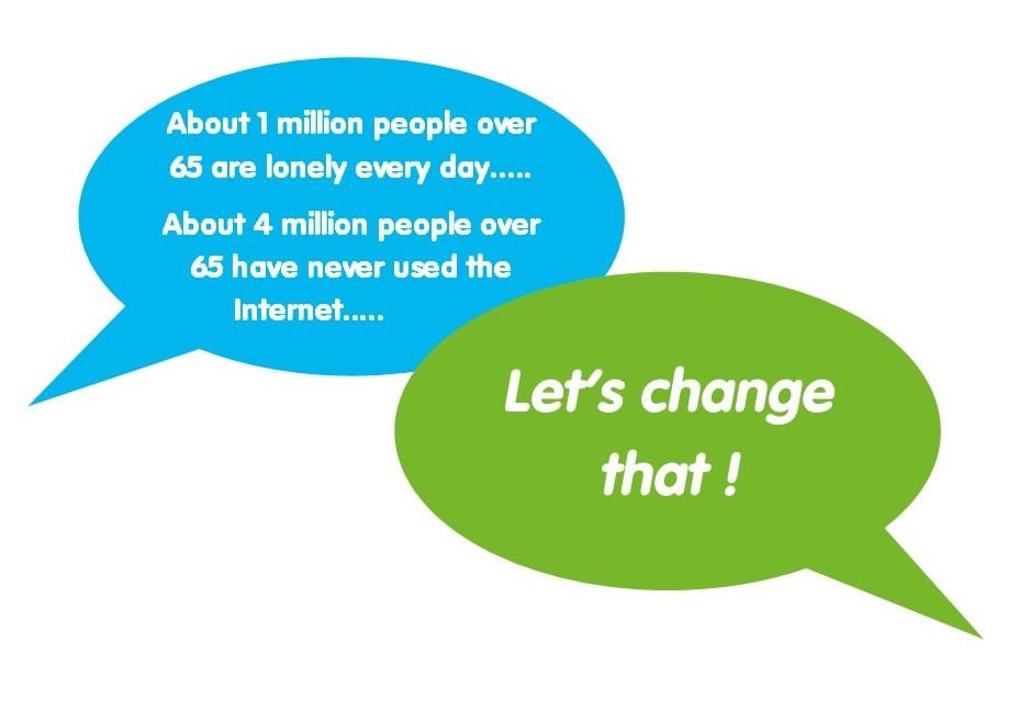 Speech bubbles giving facts about loneliness